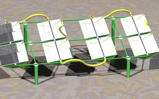 Redressable Parabolic Trough Solar Collector